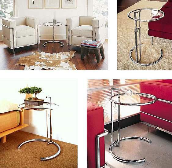 Tavolino Cromato Regolabile Eileen Gray : Alivar eileen gray tavolino estensibile design u store