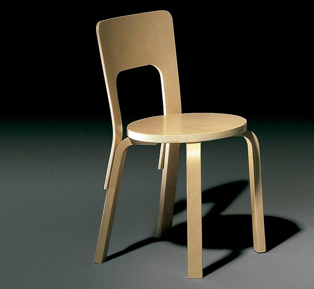 ALIVAR Alvar Aalto sedia 66 faggio lamellare | DESIGN 4U STORE