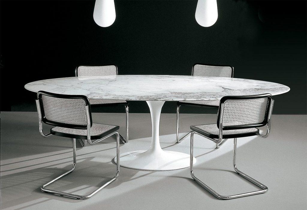 Tavolo Saarinen Misure : Saarinen tavolo tulip ovale design 4u store